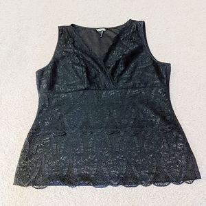 Lace Body Shapewear, XL, Black, Daisy Fuentes